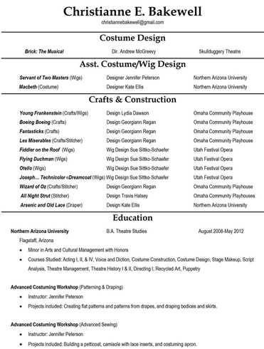 The Business Of Costuming Resumes  Christianne Bakewell. Resume Distribution. Blue Sky Resume. Post My Resume. Resume Jobs. Landscaper Resume. Sample Graphic Design Resume. Resume For Waitress. What Does Cv Mean Resume